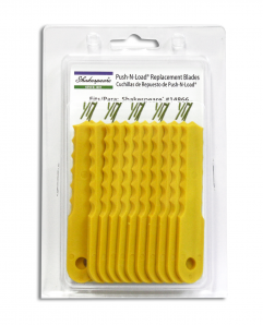 Designed for the Shakespeare® Push-N-Load 3-Blade Trimmer Head these nylon blades are ideal for cutting both grass and weeds. Nylon blades often last up to 10x longer than the trimmer line alternative.